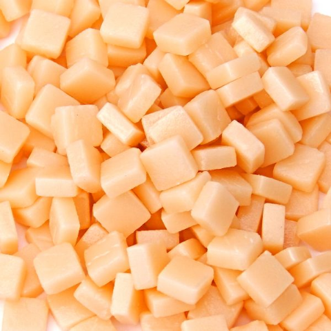 8mm Square Tiles - Light Peach Matte - 50g
